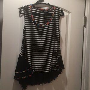Kim & Cami striped tank blouse size medium